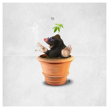 Pot ~ Title Animal Behaviour Cushion