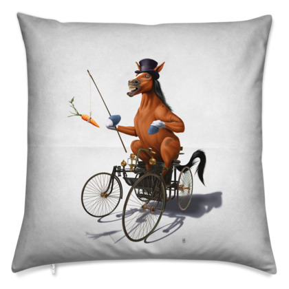Horse Power ~ Wordless Animal Behaviour Cushion