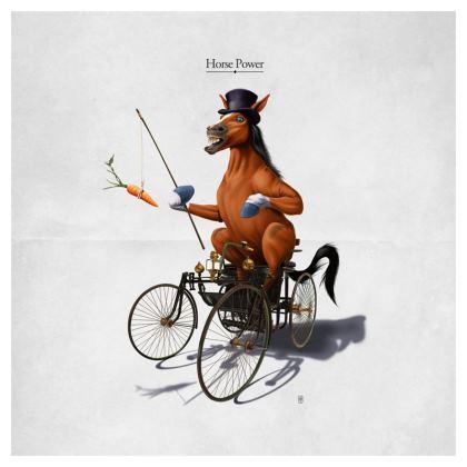 Horse Power ~ Title Animal Behaviour Cushion