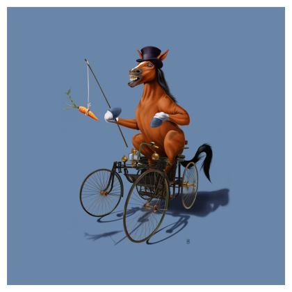 Horse Power ~ Colour Animal Behaviour Cushion
