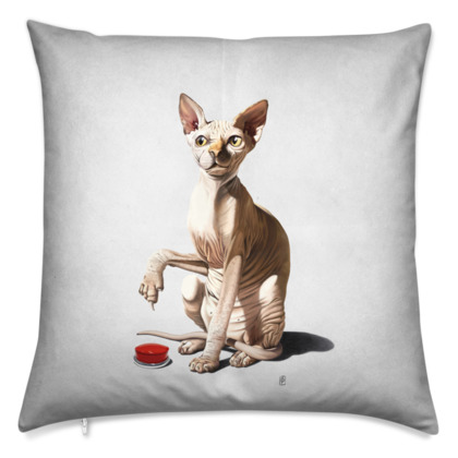 Cat-astrophe ~ Wordless Animal Behaviour Cushion