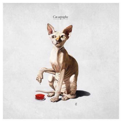 Cat-astrophe ~ Title Animal Behaviour Cushion