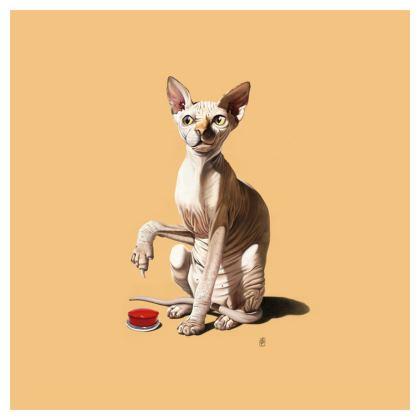 Cat-astrophe ~ Colour Animal Behaviour Cushion