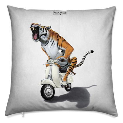 Rooooaaar! ~ Title Animal Behaviour Cushion