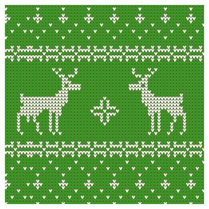 Christmas Coaster - Green Knitted