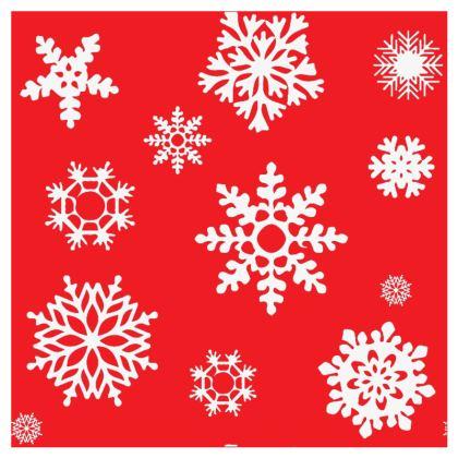 Christmas Coaster - Red Snowflake