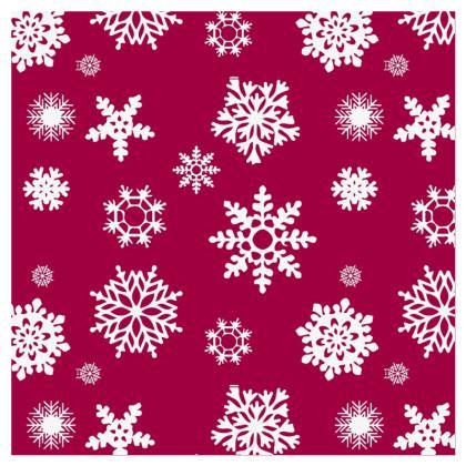 Christmas Coaster - Dark Red and Green Snowflake