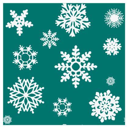 Christmas Coaster - Green Snowflake