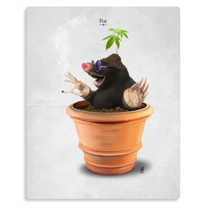 Pot ~ Title Animal Behaviour Metal Print
