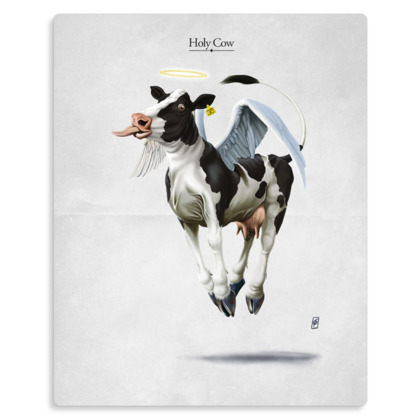Holy Cow ~ Title Animal Behaviour Metal Print