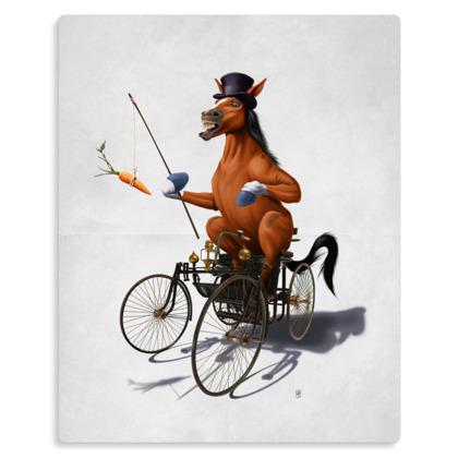 Horse Power ~ Wordless Animal Behaviour Metal Print