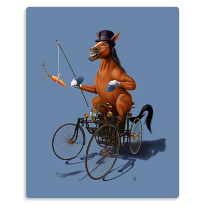 Horse Power ~ Colour Animal Behaviour Metal Print