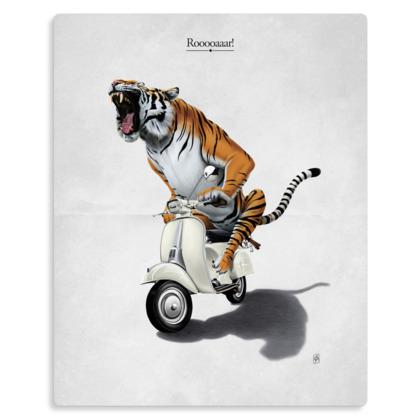 Rooooaaar! ~ Title Animal Behaviour Metal Print