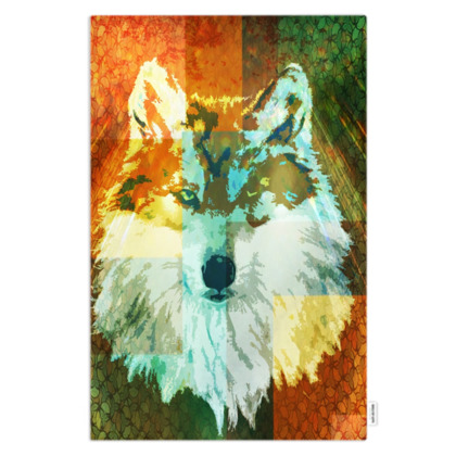 Mexican Grey Wolf Pet Blanket