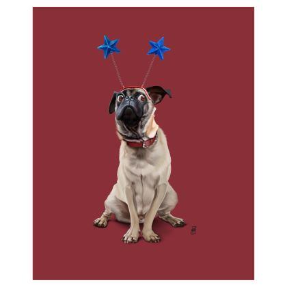 A Pug's Life ~ Wordless Animal Behaviour Art Postcard
