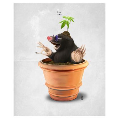 Pot ~ Wordless Animal Behaviour Art Postcard