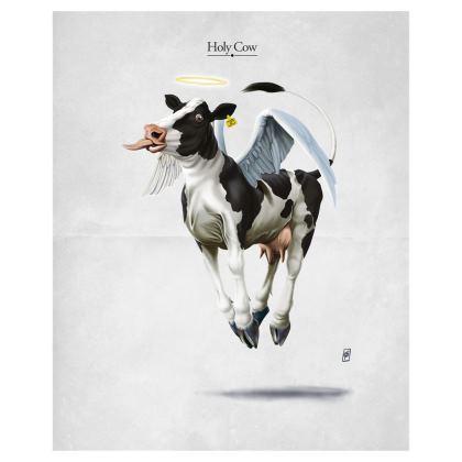 Holy Cow ~ Wordless Animal Behaviour Art Postcard