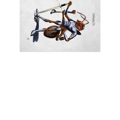 Soldiering On ~ Wordless Animal Behaviour Art Postcard