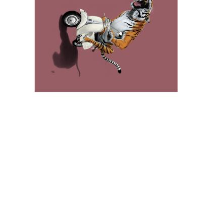 Rooooaaar! ~ Wordless Animal Behaviour Art Postcard