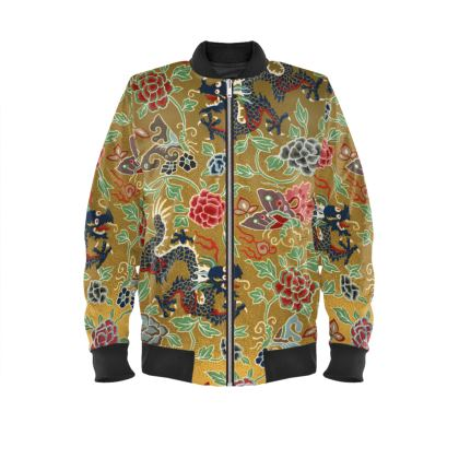 Chinois Japanese Premium Velvet Bomber Jacket (Artistic Collection)