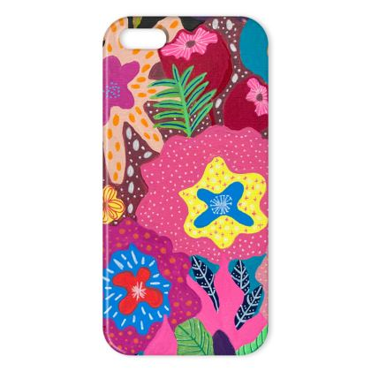 iPhone case Secret Garden hand painted floral abstract