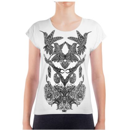 Birds and Beetles Ladies T Shirt