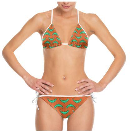 Orange and turquoise Fish Bikini