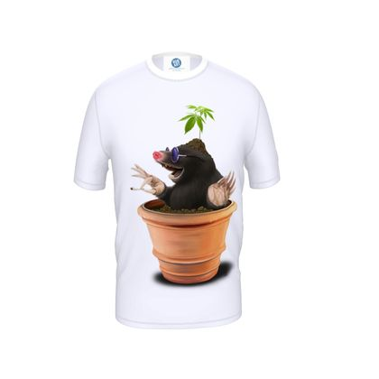 Pot ~ Wordless Animal Behaviour Cut and Sew T Shirt