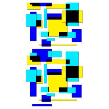 Strapless Swimsuit - Bright Squares
