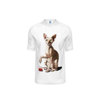 Cat-astrophe ~ Wordless Animal Behaviour Cut and Sew T Shirt