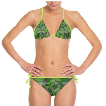 Bikini - Green spiral
