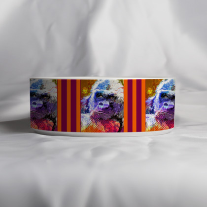 Mountain Gorilla Large Pet Bowl