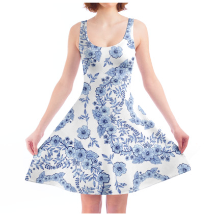 Blue Rhapsody Skater Dress