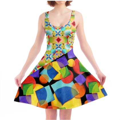 Candy Rainbow Celtic Skater Dress