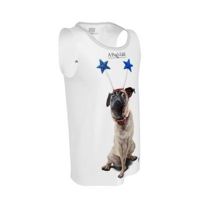 A Pug's Life ~ Title Animal Behaviour Cut and Sew Vest
