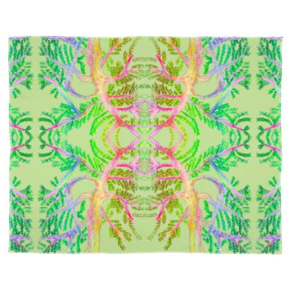 Multicolour Digitally Printed Scarf- Mint Green