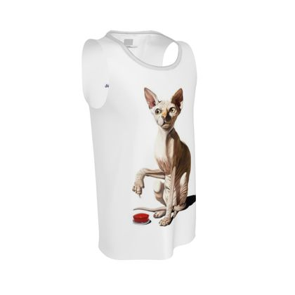 Cat-astrophe ~ Wordless Animal Behaviour Cut and Sew Vest