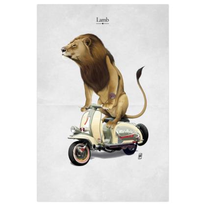 Lamb ~ Title Animal Behaviour Art Print