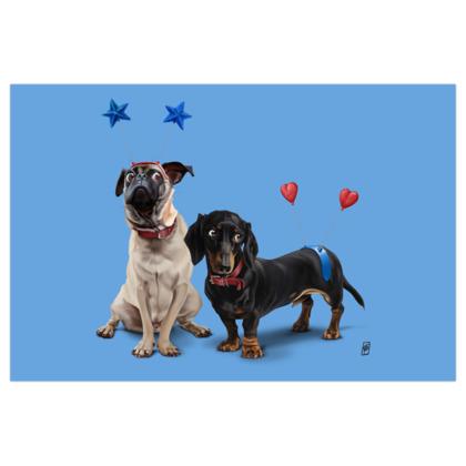 What's the Deely? ~ Colour Animal Behaviour Art Print