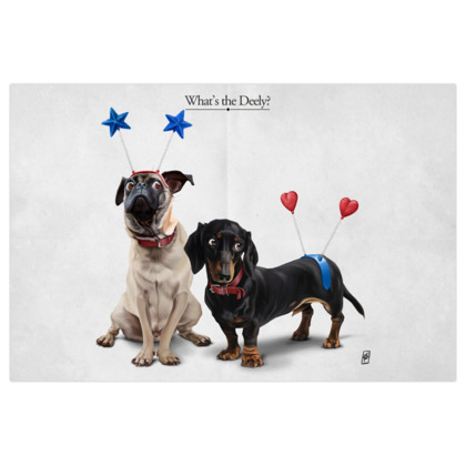 What's the Deely? ~ Title Animal Behaviour Art Print
