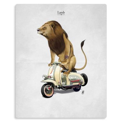 Lamb ~ Title Animal Behaviour Metal Print