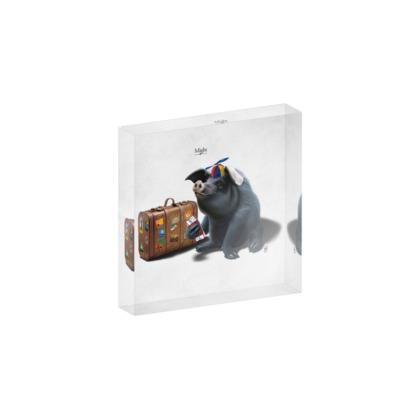 Might ~ Title Animal Behaviour Acrylic Block