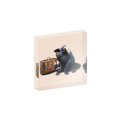 Might ~ Colour Animal Behaviour Acrylic Block