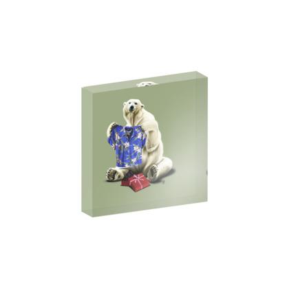 Cool! ~ Colour Animal Behaviour Acrylic Block