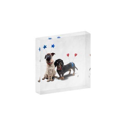 What's the Deely? ~ Wordless Animal Behaviour Acrylic Block