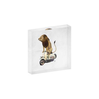 Lamb ~ Wordless Animal Behaviour Acrylic Block