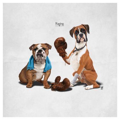 Raging ~ Title Animal Behaviour Cushion