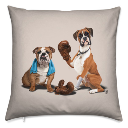 Raging ~ Colour Animal Behaviour Cushion