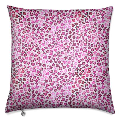 Leopard Skin in Magenta Collection Cushions