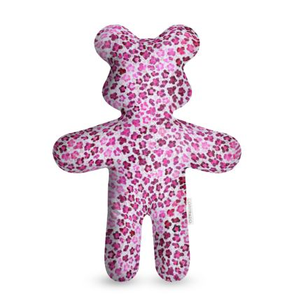 Leopard Skin in Magenta Collection Teddy Bear